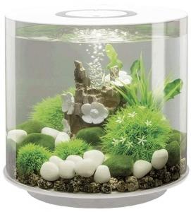 Круглый аквариум с обзором в 360° biOrb Tube 15 LED MCR 33X33X32 CM белый