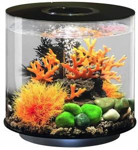 Круглый аквариум с обзором в 360° biOrb Tube 15 LED 33X33X32 CM чёрный