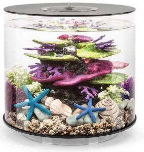 Круглый аквариум с обзором в 360° biOrb Tube 15 LED MCR 33X33X32 CM чёрный