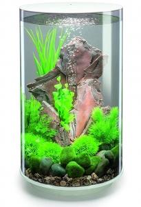 Круглый аквариум с обзором в 360° biOrb Tube 30 LED 33X33X52 CM белый