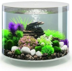 Круглый аквариум с обзором в 360° biOrb Tube 35 LED 41X41X37 CM белый