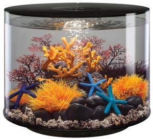 Круглый аквариум с обзором в 360° biOrb Tube 35 LED 41X41X37 CM чёрный