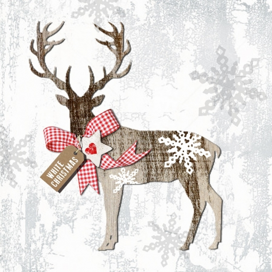 Салфетки country xmas deer 20 шт 1