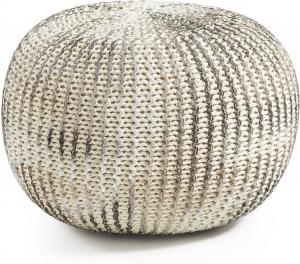 Пуф Shore 45X45X35 CM серебряный