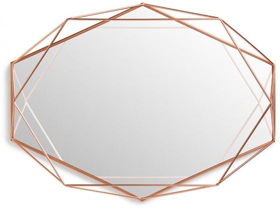 Зеркало настенное prisma 43X57X9 CM медь 1