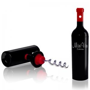 Штопор для бутылок черный mini vin