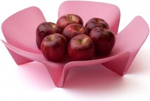 Ваза для фруктов Flower 30X30X10 CM розовая