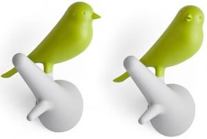 Вешалки настенные Sparrow 2 шт белые/зеленые