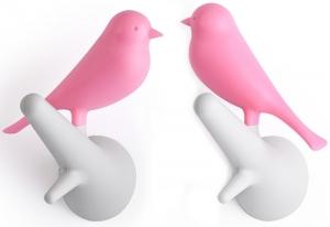 Вешалки настенные Sparrow 2 шт белые-розовые