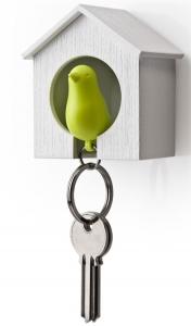 Держатель+брелок для ключей sparrow белый/зеленый