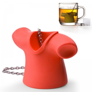 Заварочная ёмкость для чая tea shirt красная