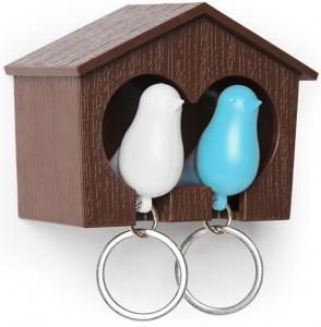Держатель для ключей Sparrow белый/голубой