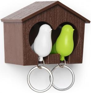 Держатель для ключей Sparrow белый/зелёный