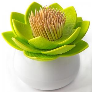 Держатель для зубочисток lotus белый-зеленый
