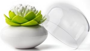 Контейнер для хранения ватных палочек lotus белый/зеленый