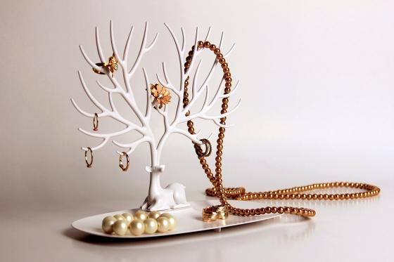 Декоративный органайзер для украшений deer малый белый 2