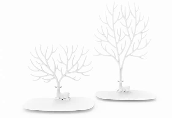 Декоративный органайзер для украшений deer малый белый 3