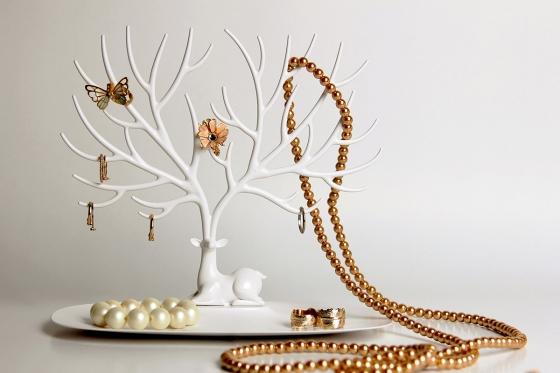 Декоративный органайзер для украшений deer малый белый 4