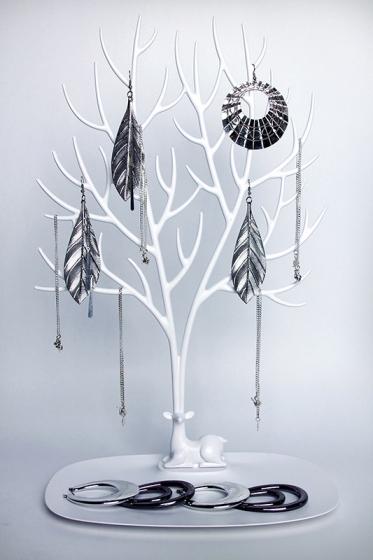Декоративный органайзер для украшений deer большой белый 3