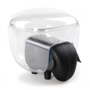 Держатель для ватных дисков sheep чёрный/прозрачный