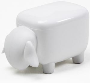 Контейнер для мелочей sheepshape, белый с белой крышкой