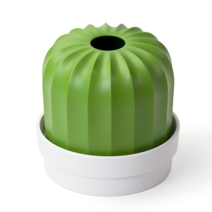 Держатель для салфеток cactiss пластиковый, белый с зеленым