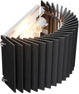 Настенный светильник Ротор 26X14 CM чёрный дуб