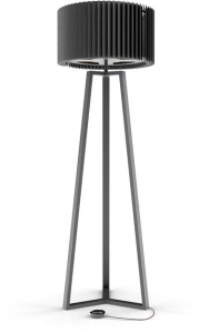 Торшер Rotor 160X53 CM дуб чёрный