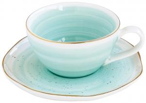 Чашка с блюдцем Artesanal 250 ml зелёная