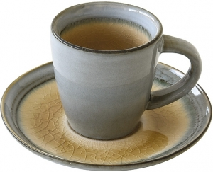 Чашка с блюдцем для кофе Origin 75 ml бежевая