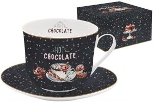 Чашка с блюдцем Hot Chocolate 400 ml
