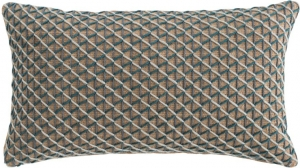 Подушка декоративная из джута и шерсти Raw 70X40 CM голубая