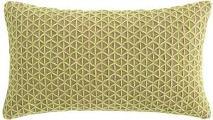 Подушка декоративная из джута и шерсти Raw 70X40 CM салатовая