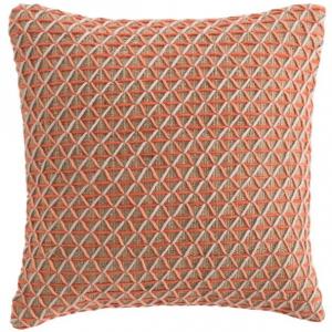 Подушка декоративная из джута и шерсти Raw 50X50 CM розовая