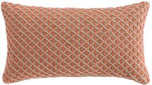 Подушка декоративная из джута и шерсти Raw 70X40 CM розовая