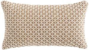 Подушка декоративная из джута и шерсти Raw 70X40 CM белая