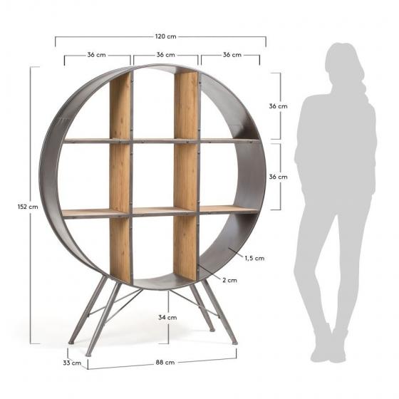 Стеллаж круглой формы Helia 120X33X152 CM 8