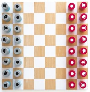 Деревянные шахматы 40X40 CM