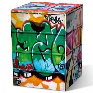 Табурет картонный сборный graffiti