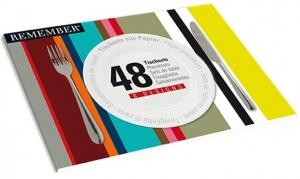 Набор из 48 сервировочных ковриков Stripes 42X30 CM