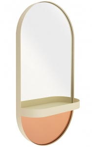 Зеркало настенное с полочкой 30X60 CM