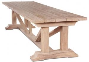 Стол из тика Elias 350X100X78 CM