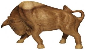 Декоративный элемент из тика Bull 30X9X17 CM