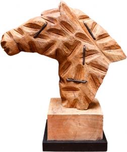 Декор из дерева манго Horse 44X41X8 CM