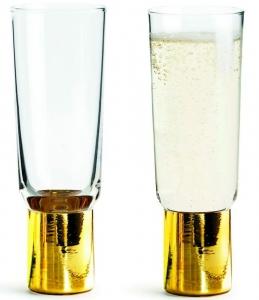 Два бокала для шампанского Gold Club 200 ml