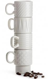 Набор 4 кружек для эспрессо Coffee & More 100 ml