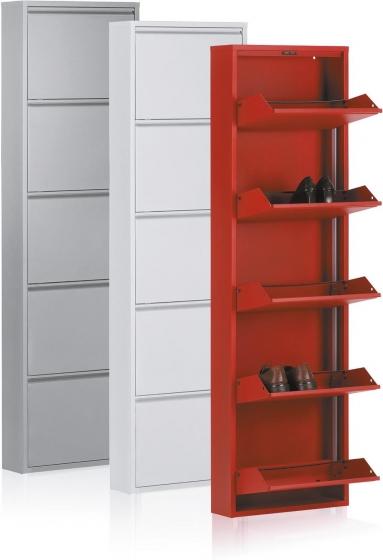 Шкаф для обуви металлический Zapatero 50X15X169 CM белый 2