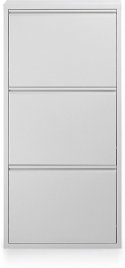 Шкаф для обуви металлический Zapatero 50X15X103 CM белый