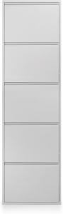 Шкаф для обуви металлический Zapatero 50X15X169 CM белый
