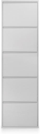 Шкаф для обуви металлический Zapatero 50X15X169 CM белый 1